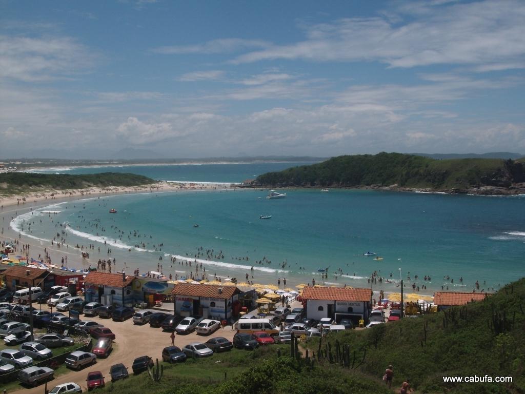 Foto clássica da Praia das Conchas em Cabo Frio.